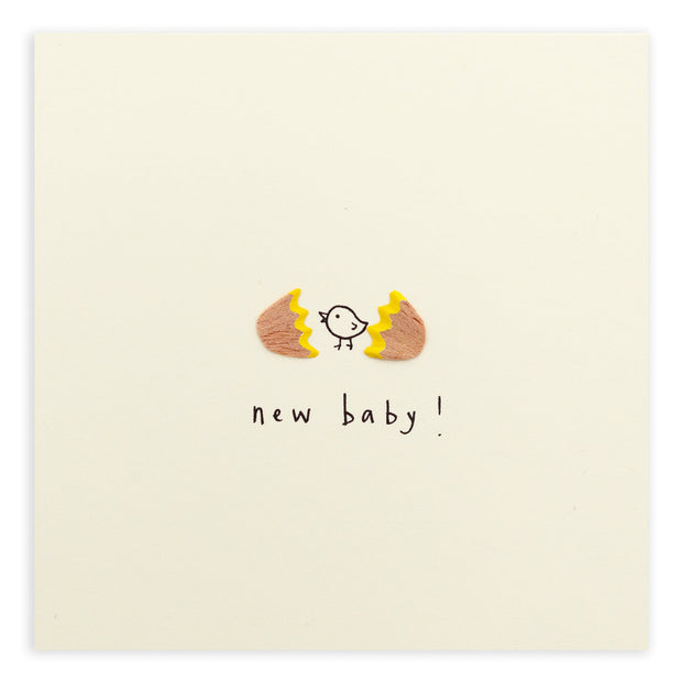 Ruth Jackson Pencil Shavings New Baby Greeting Card