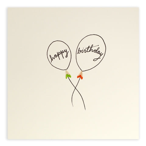 Pencil Shavings Happy Birthday Balloons Greeting Card