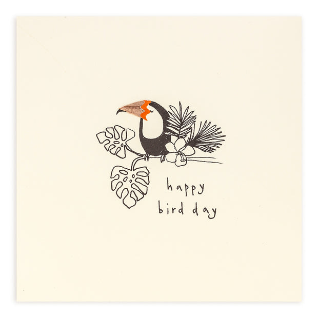 Pencil Shavings Happy Bird Day Card