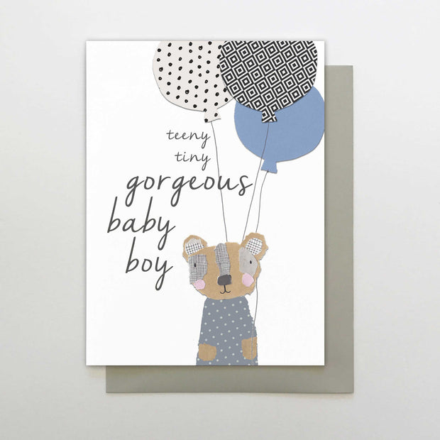 Stop the Clock Gorgeous Baby Boy Card