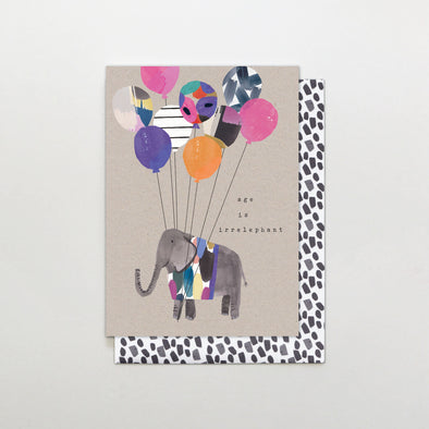 Stop the Clock Age is Irrelephant Birthday Card