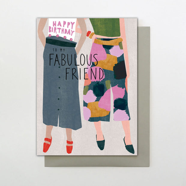 Stop the Clock Fabulous Friend Birthday Card