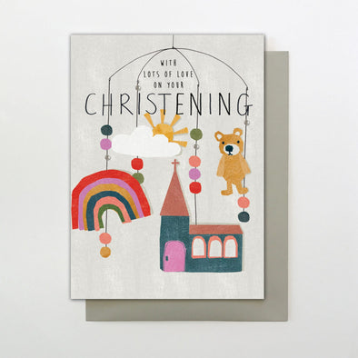 Stop the Clock Lots of Love Christening Card