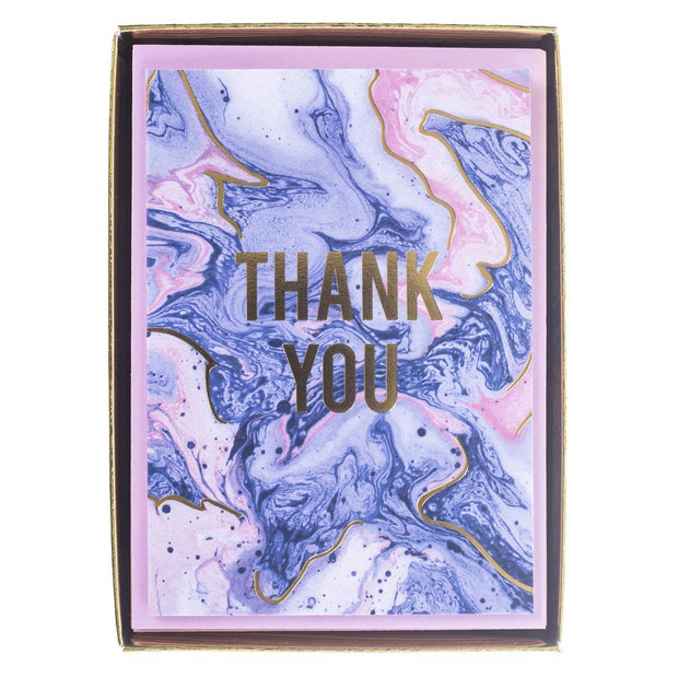 Graphique Blush Marble Thank You Boxed Cards