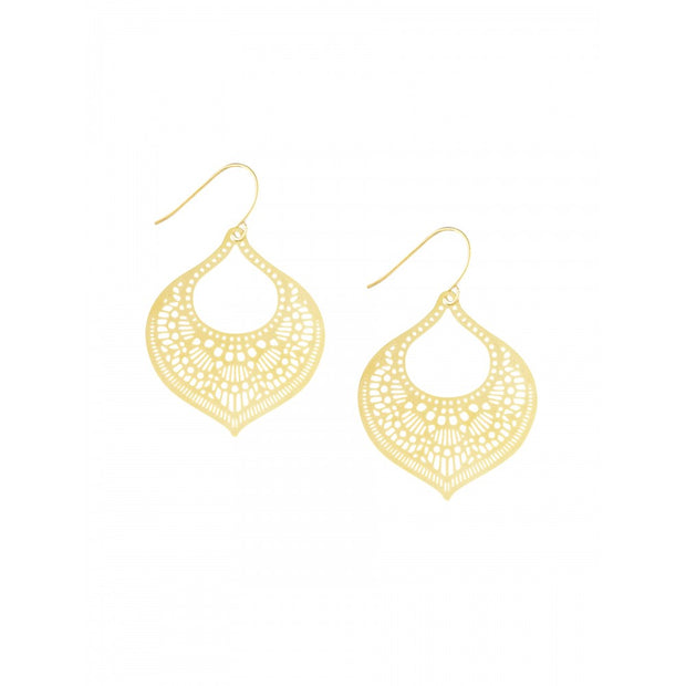 Gold Moroccan Filigree Earrings by Tiger Tree