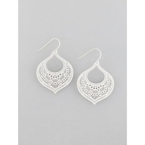 Silver Moroccan Filigree Earrings by Tiger Tree
