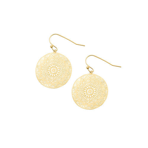 Gold Mini Web Earrings