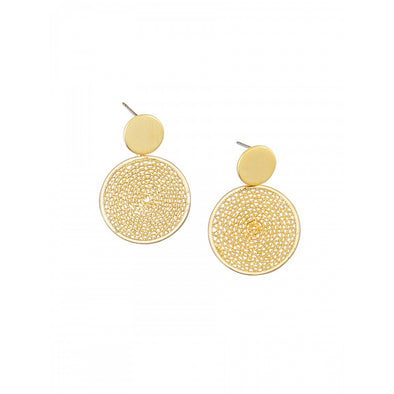 Gold Ripple Earrings by Tiger Tree