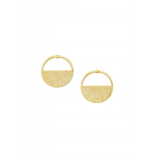 Gold Open & Closed Earrings by Tiger Tree