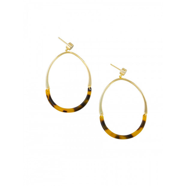 Tortoise Shell Elliptical Earrings by Tiger Tree