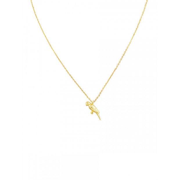Gold Parrot Necklace by Tiger Tree