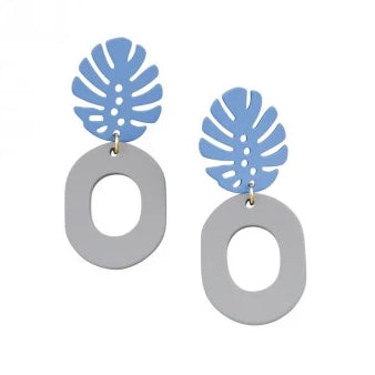 Tiger Tree Grey & Blue Pineapple Earring
