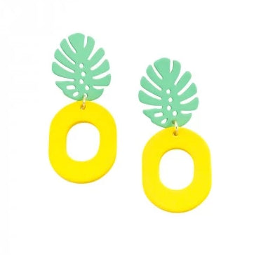 Tiger Tree Yellow & Green Pineapple Earring