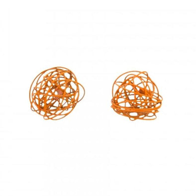 Tiger Tree Orange Scribble Wire Studs