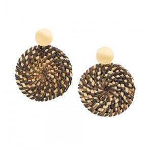 Tiger Tree Basket Coiled Earrings