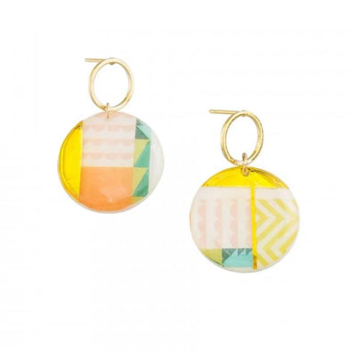 Tiger Tree Gold Summer Holiday Earrings