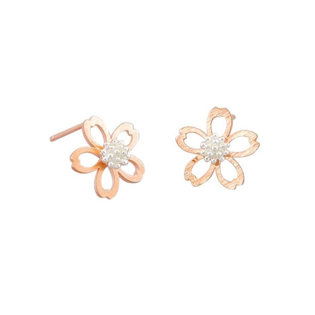 Tiger Tree Rose Gold Baby Blossom Earrings