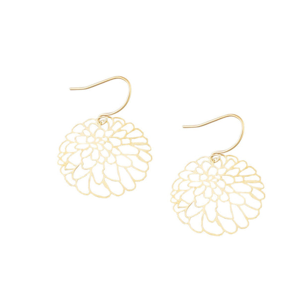 Tiger Tree Gold Oriental Bliss Earrings