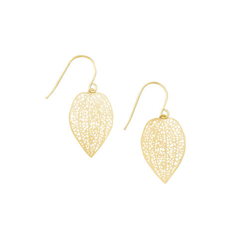 Tiger Tree Mini Gold Leaf Earrings
