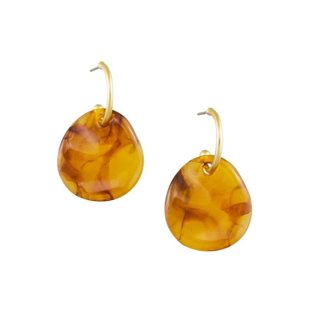 Tiger Tree Curved Earth Earrings