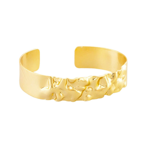 Tiger Tree Gold Crinkle Cuff