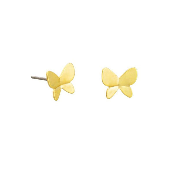 Tiger Tree Gold Kyoto Butterfly Studs