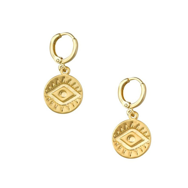 Tiger Tree Gold Mati Earrings