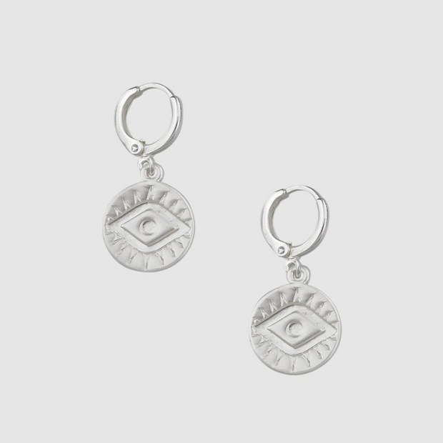 Tiger Tree Silver Mati Earrings