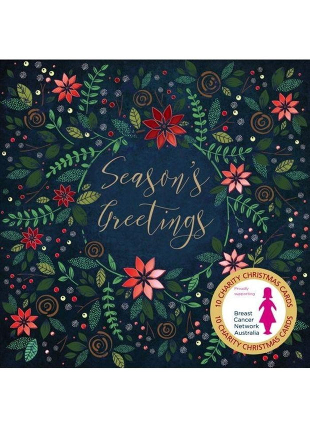 BCNA Charity Christmas Card Pack - Floral Greetings