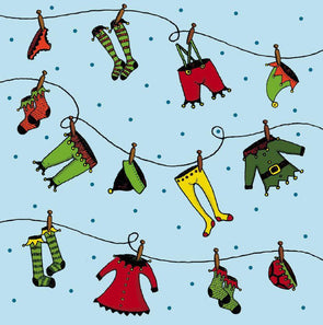CMRI Charity Christmas Card Pack - Laundry Day