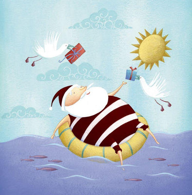 CMRI Charity Christmas Card Pack - Floating Santa