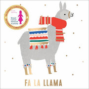 BCNA Charity Christmas Card Pack - Fa La Llama