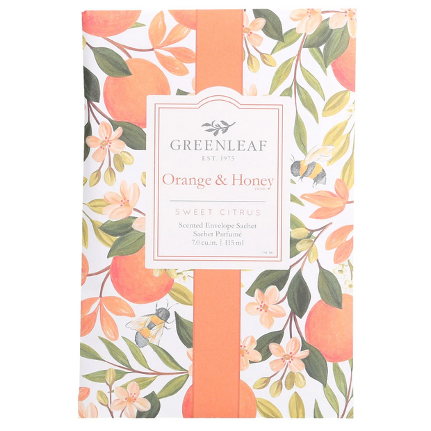 Greenleaf Orange & Honey Large Scented Sachet