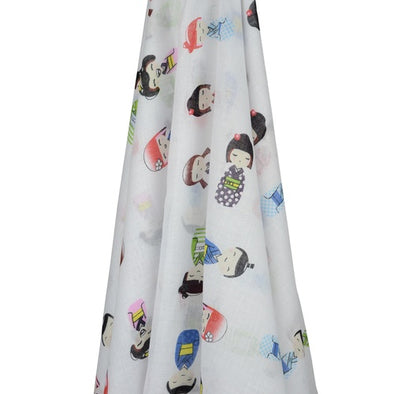 Japanese Dolls Muslin Wrap