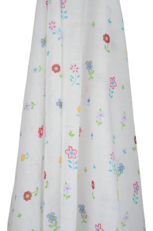Field of Flowers Muslin Wrap