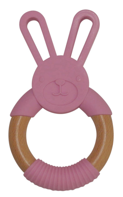Pink Bunny Teething Ring