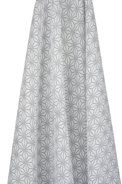 White & Black Geometric Muslin Wrap