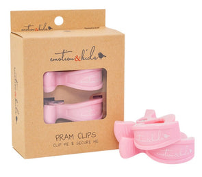 Pink Pram Clips - 2 Pack