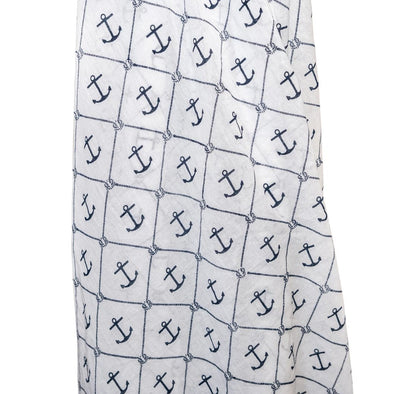 Navy Anchor Muslin Wrap