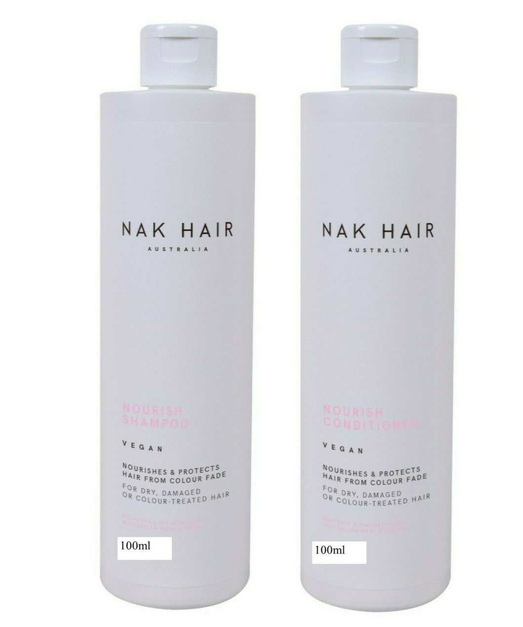 Nak Nourishing Nourish Shampoo Conditoner 100ml Duo Nak Travel Size - On Line Hair Depot