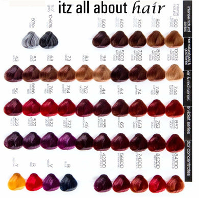 iaahhaircare,RPR My Colour is a professional reconstructing colour system 100g tube Mix 1:1.5,Hair Colouring,RPR