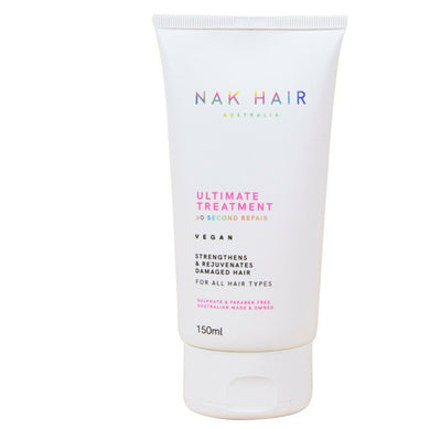 iaahhaircare,Nak ULTIMATE TREATMENT  60 SECOND REPAIR 150ml Fresh Stock Label,Shampoos & Conditioners,Nak
