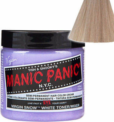 iaahhaircare,MANIC PANIC -- Virgin Snow -- HAIR DYE  118 ML,Colouring,Manic Panic