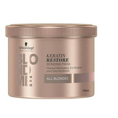 iaahhaircare,Schwarzkopf BLONDME Keratin Restore Bonding Mask All Blondes 200ml,Treatments,Schwarzkopf