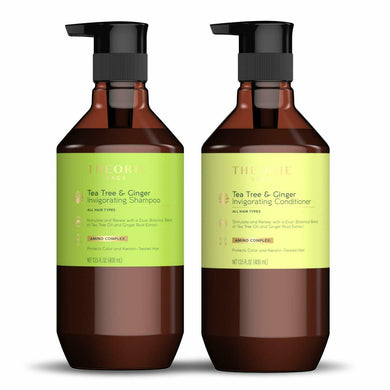iaahhaircare,Theorie Tea Tree and Ginger invigorating Shampoo and Conditioner 400mL Duo,Shampoos & Conditioners,Theorie