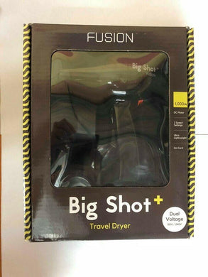iaahhaircare,Fusion Big shot+ travel Dryer Black,HairDryer,Fusion Tools