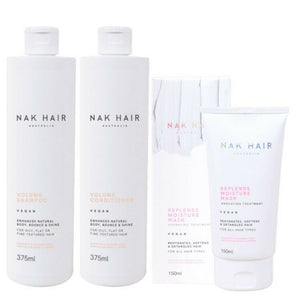 iaahhaircare,Nak Body N Shine now Volume Shampoo Conditoner & Repl Ends Moisture Treat Trio,Shampoos & Conditioners,NAK