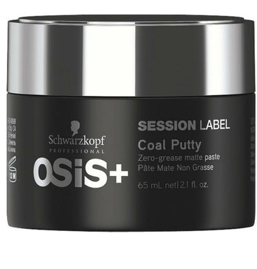 iaahhaircare,Schwarzkopf Osis+ Session Label Coal Putty 65ml x 1,Styling Products,Session Label Schwarzkopf
