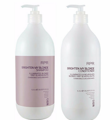 iaahhaircare,RPR Brighten My Blonde Shampoo & Conditioner 1 Litre Duo New Label,Shampoo and Conditioner,Brighten My Blonde RPR