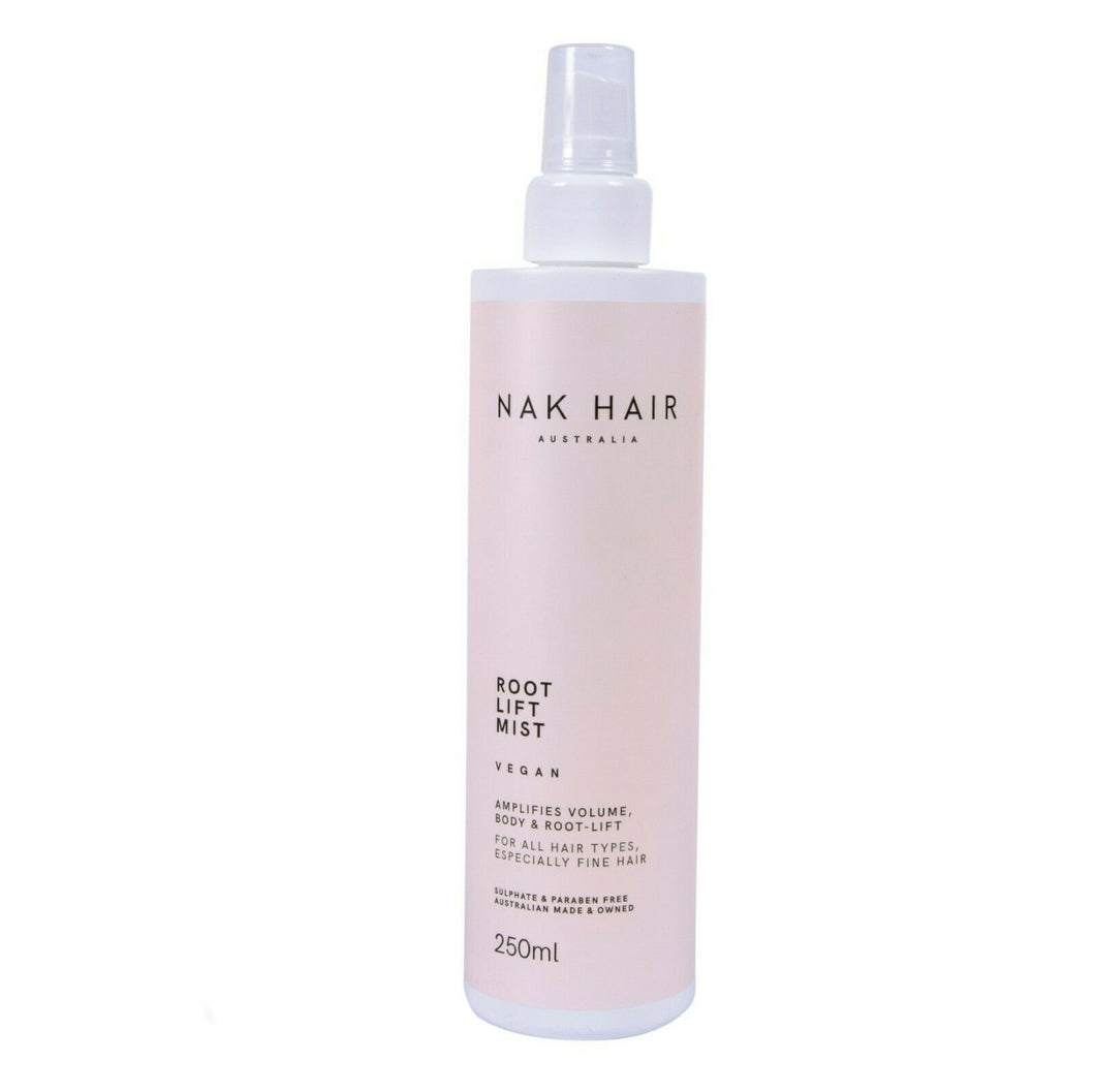 Nak Root Lift mist 250ml x 1 Amplifies Volume body and bounce in all hair textur - On Line Hair Depot